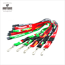 Fashion Customized Exhibition Sublimation Printed Logo Nylon Woven Polyester Promotional Neck Lanyard
